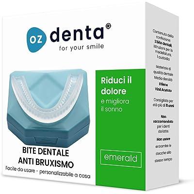 2 x Férula dental de descarga nocturna, anti bruxismo (rechinar los dientes), trastornos del ATM