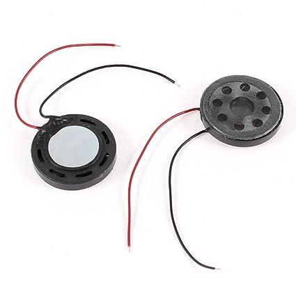 sourcingmap® 2pcs Altavoces de imán de bocina para juguetes de 20mm de diámetro de 8