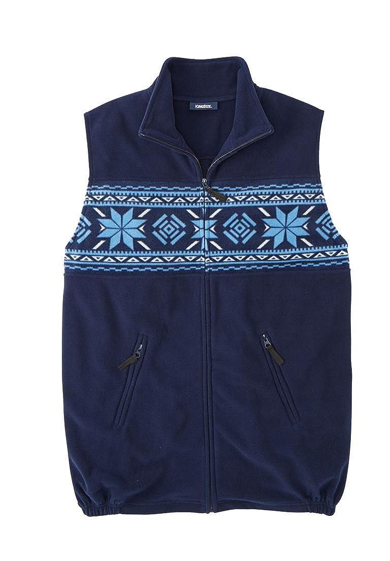 KingSize Men's Big & Tall Explorer Fleece Zip Vest, Snowflake Tall-5Xl 37279656054mk5XL~5XL