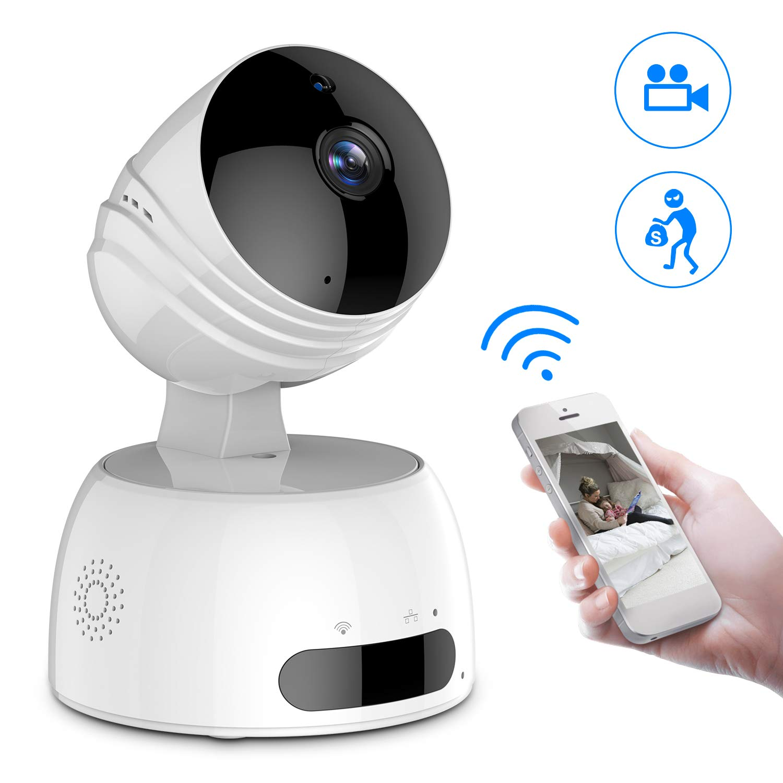 ROXTAK Wireless IP Kamera, HD Überwachungskamera mit WiFi, 355°/100° Schwenkbar, Zwei-Wege-Audio, Nachtsicht, unterstützt Fernalarm und Mobile App Kontrolle für Smartphone/PC …