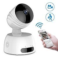 Caméra de Surveillance sans fil, ROXTAK Caméra IP sans fil, Caméra Surveillance Wifi Intérieur, Cloud, Vision Nocturne, Détection de Mouvement, 2 Way Audio, Pan / Tilt / Zoom pour Bébé /Aîné /Animal