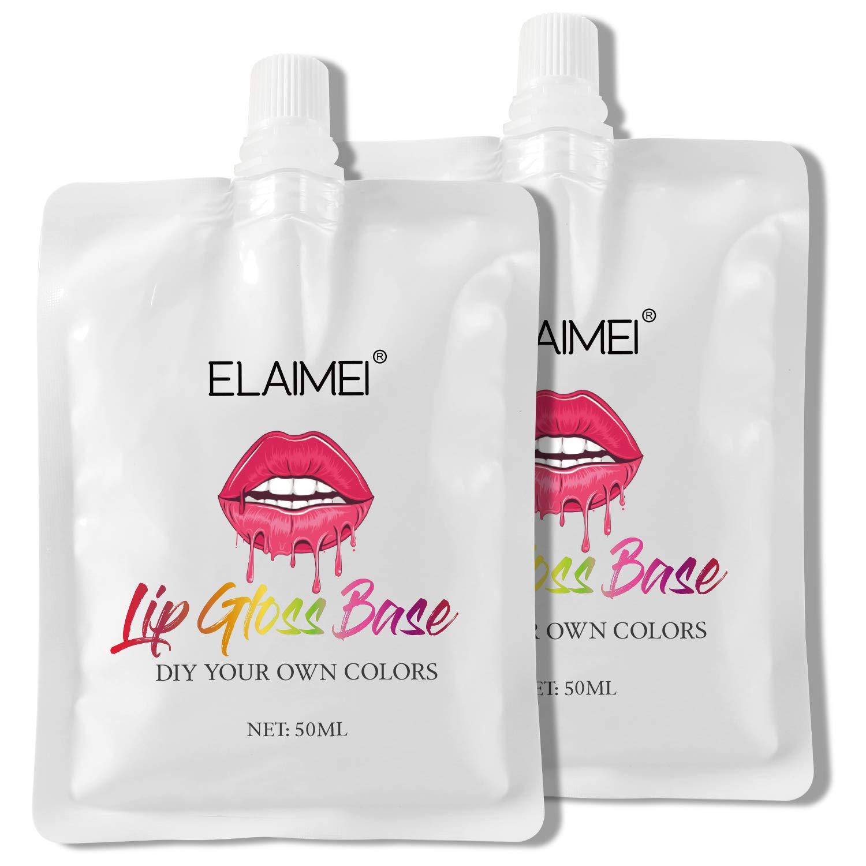2Pack Lip Gloss Base, Lip Gloss Base Oil Material Lip Makeup Primers, Non-Stick Lipstick Primer Lip Gloss Base for DIY Handmade Lip Balms Lip Gloss