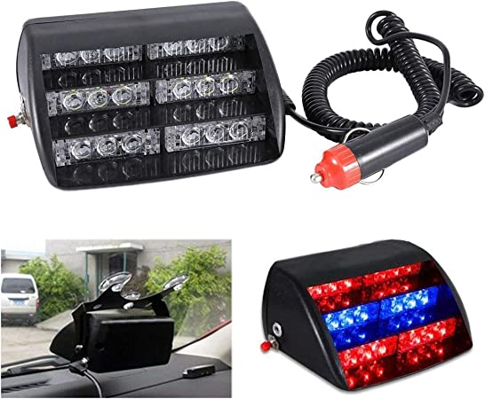 Zone Tech 240 LED Tow Truck Emergency Warning Roof Top Strobe Light Amber//White