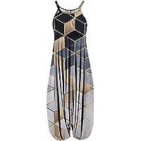 Jumpsuit dames elegante racerback harem jumpsuit spaghettibandjes vintage effen kleuren paisley overall overall