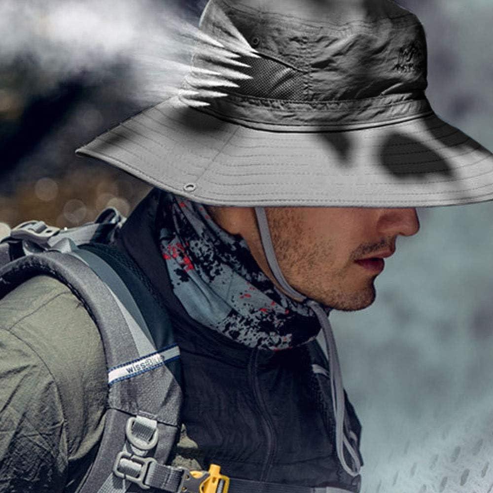 TourKing Outdoor Hommes Chapeau De Soleil /Ét/é Protection UV Cap Large Bord De P/êche Randonn/ée Camping Chapeau