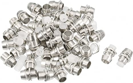 50 Pcs Mounting Rings for 5mm LED Metal Chrome-Plated Metal Holder Top!