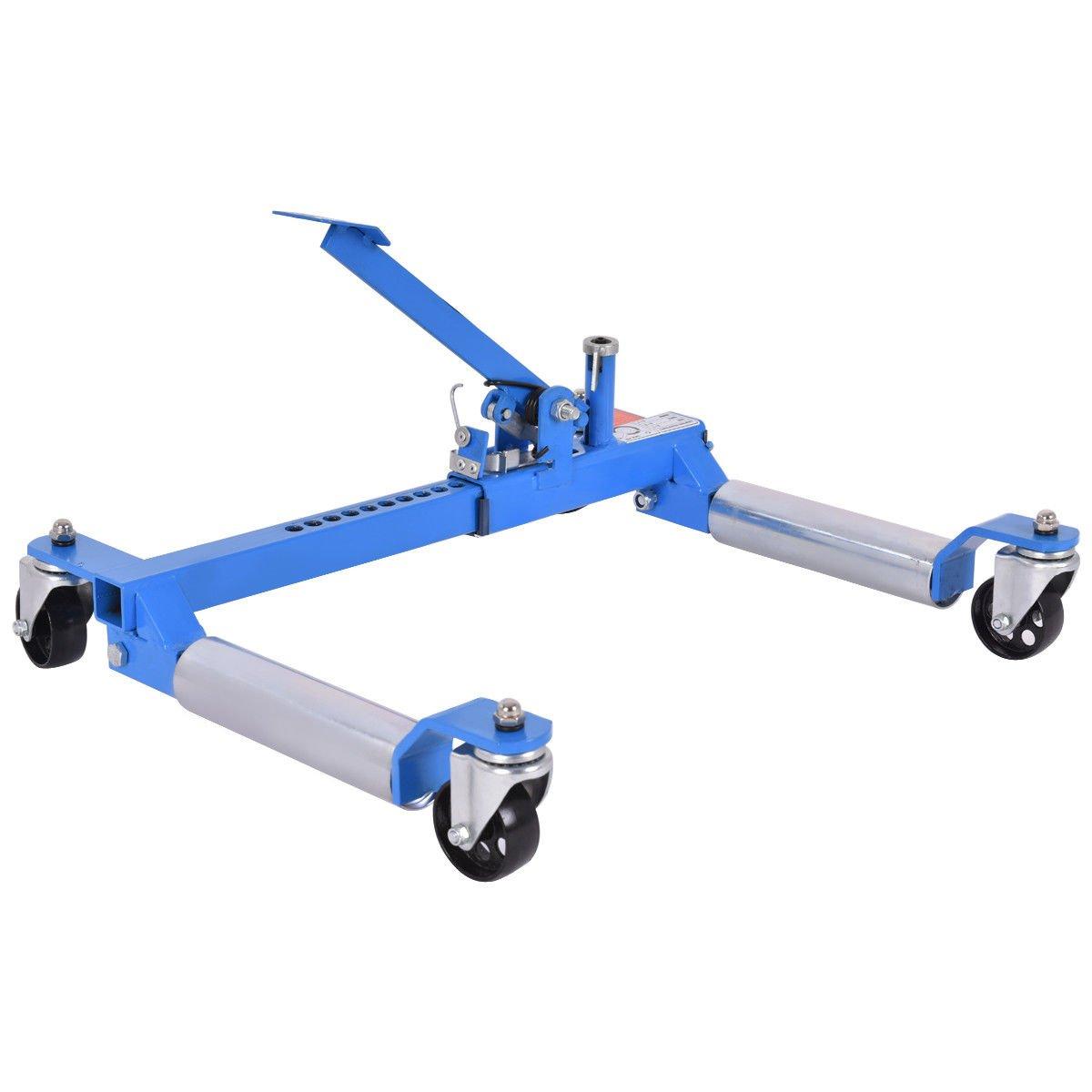 Goplus Wheel Dolly Car Skates Vehicle Positioning Hydraulic Tire Jack, 1250 lb (Blue) by Goplus (Image #6)