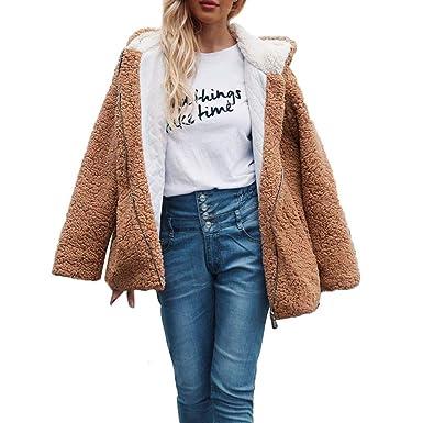 FRAUIT Damen Winterjacke Wintermantel Kurz Wollmantel Jacke Outwear Frauen  Mode Streetwear Parka warme Solide Lässig Dicker Slim Schlanke Jacke Mantel   ... 771f169b57