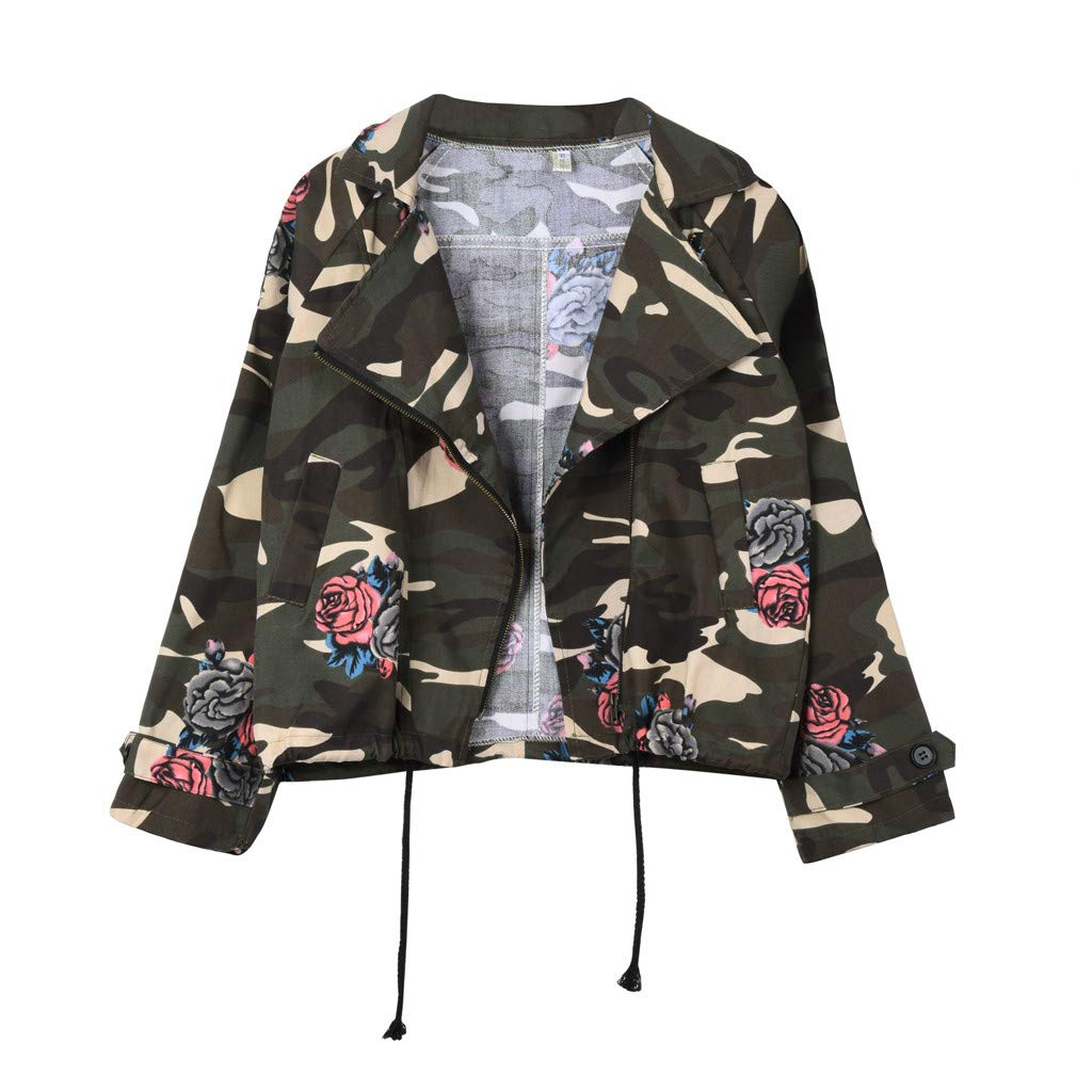 WM&MW Plus Size Jacket,Women Winter Loose Floral Camouflage Open Front Coat Cardigan Outwear Top (Camouflage, 3XL) by WM&MW