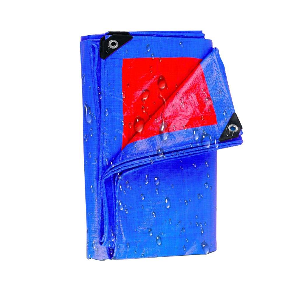 JNYZQ Große Wasserdichte Plane-schwere Picknick-Matten-Falle Regenfeste Boden-Blatt-Abdeckungen Schuppen-Tuch-Zelt-Splice-Markise-Sonnenblende-Visier-Blau, 150G   M² (größe   8  10m)