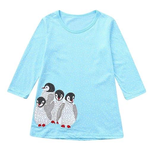 a6eb591597c2 Amazon.com  2-7T Little Kids Girls Long Sleeve Floral Dresses ...