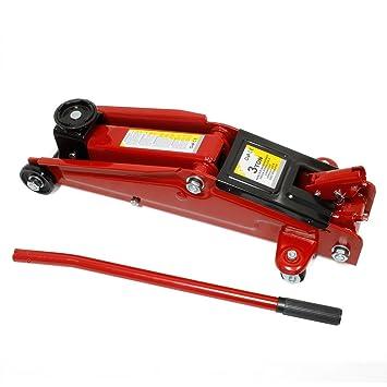 Forever Speed 3T Gato hidráulico Altura de elevación135 hasta 400 mm Rojo: Amazon.es: Coche y moto