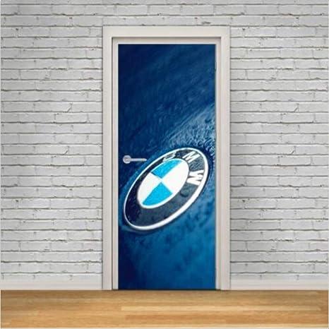 Jhsm Autocollant Porte Sticker 3d Chambre Stickers Pour De
