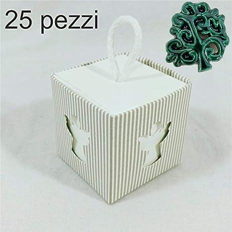 25 Pz Scatole Portaconfetti Angeli Di Carta Incluso Cordoncino