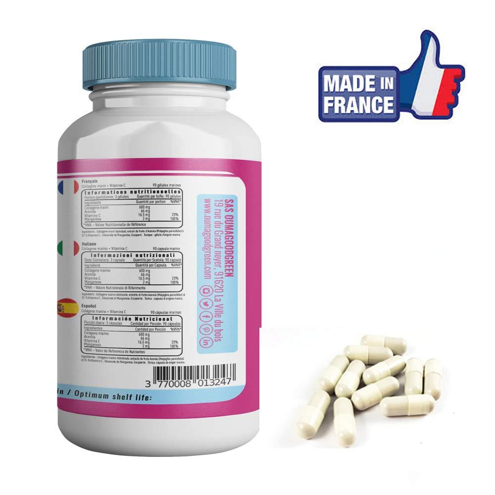 Colágeno marino + Vitamina C - 90 cápsulas - Nutricite - 600 MG - Calidad francesa al precio correcto - OFERTA: Factura Instrucciones de uso PDF- Colágeno ...