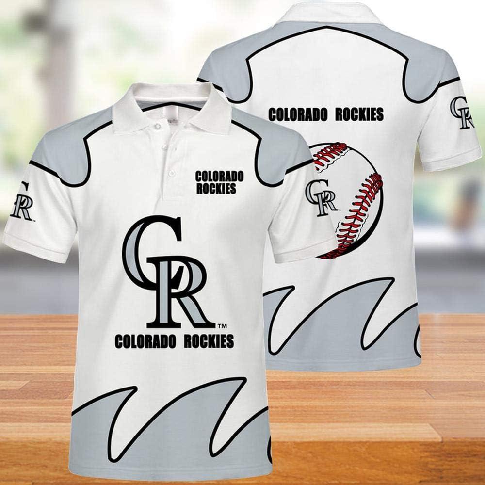 Las Camisetas De Los Hombres De Verano Polo - MLB Colorado Rockies 3D Ocasional De La Impresión De Manga Corta con Capucha Tops - Adecuado para Hombres Y Mujeres Jóvenes: Amazon.es: Ropa