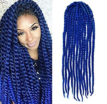 Image result for Braids and Twists in Blue Colour