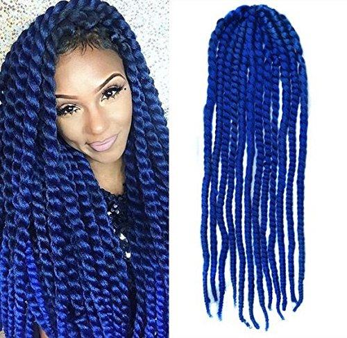 Amazoncom Blue Color Crochet Braid Hair Extensions Hair Braids