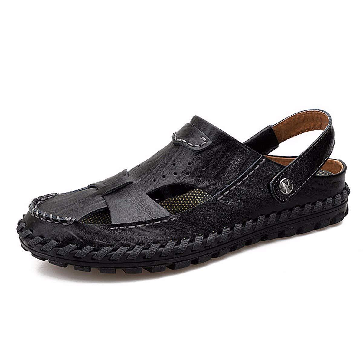 KMJBS-Männer - Pantoffeln Ausgehöhlt Sandaleen und Sandaleen Freizeit und Antiskid Schwarz 42