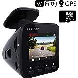 AKASO ドライブレコーダー 1296PフルHD 高画素 ドラレコ GPS搭載 170°広視野角 WIFI機能 高性能センサー WDR 暗視機能 ダッシュカム G-sensor/駐車監視/衝撃録画 車載カメラ V1(16GBメモリーカード付き)