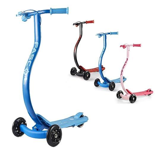 15 opinioni per Fascol® Scooter Monopattino per bambini, Monopattino 3 Ruote Peso max 60 kg, Blu