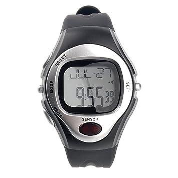 PIXNOR Impermeable deportivo pulso Rate Monitor calorías contador Digital reloj (plata): Amazon.es: Electrónica