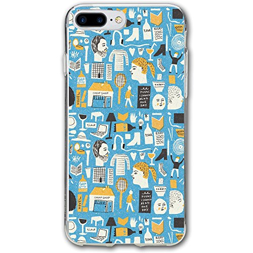 IPhone 7 Plus Case Blue Modern Tile Pattern About Daily Gadget Fashion Case Mobile Phone Case