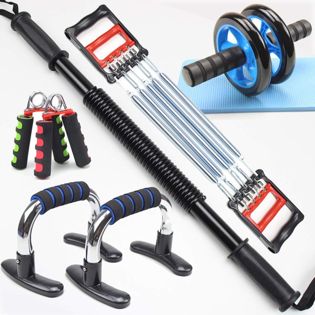 男性筋力トレーニング、家庭用スーツフィットネス機器アームバープラーチェストエクスパンダグリップコンビネーションアームエクササイザ腹筋筋肉 30KG D B07HFBWBCS