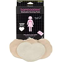 Bamboobies Washable Nursing Pads for Breastfeeding, Reusable Breast Pads, 6 Pairs - Regular, Value Pack