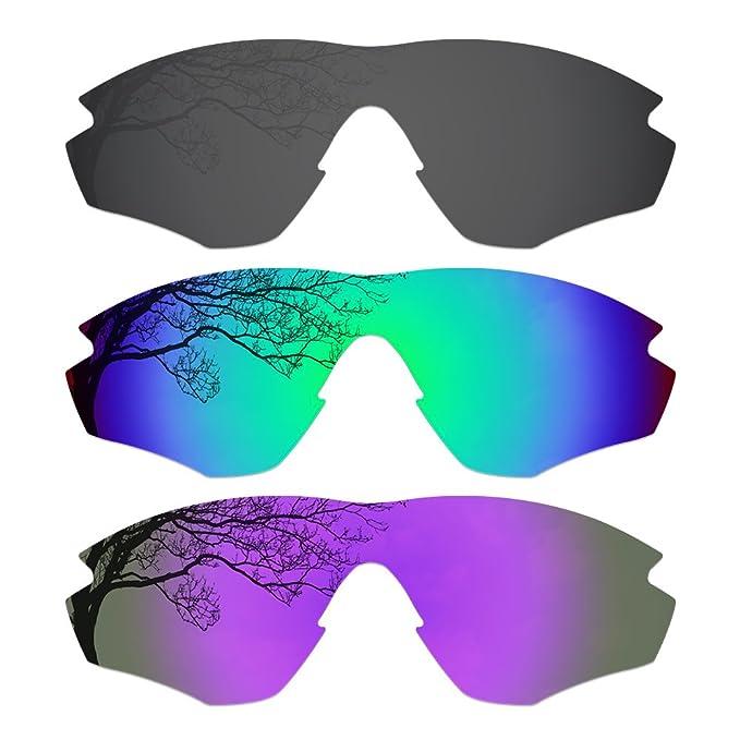 81e4861b5d1 3 Pairs Polarized Lenses for Oakley M2 Sunglasses Black Green Purple (3C)   Amazon.ca  Clothing   Accessories