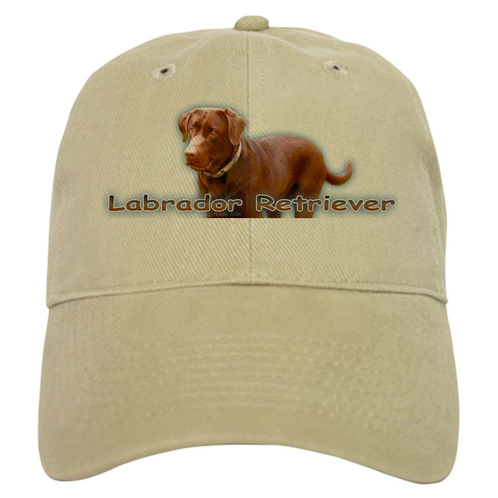 CafePress - Chocolate Lab - Baseball Cap with Adjustable Closure, Unique Printed Baseball Hat