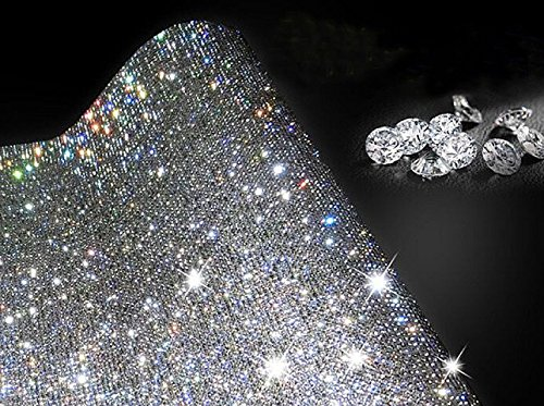 Ling's boutique(TM) 9000pcs bling crystal rhinestone DIY car decoration sticker (White(transparent))