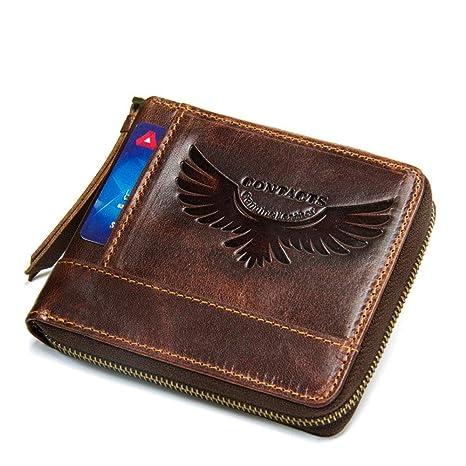 Billetera de Piel para Hombre, Bolsa de Cuero Corta ...