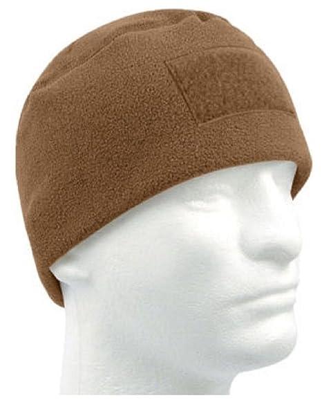 Amazon.com  Coyote Brown Military Winter Polar Fleece Hat Beanie ... b26d098686d