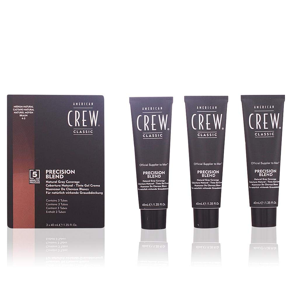 AMERICAN CREW Precision Blend Hair Dye Set, Mednatural
