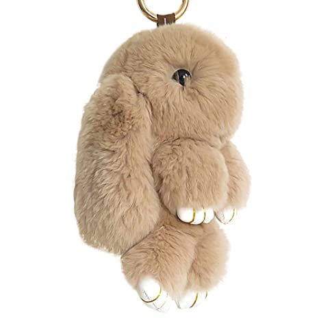 Jewelry Sets & More Buy Cheap New Fashion Faux Rex Rabbit Fur Pom Pom Monkey Toy Keychain Women Bag Charms Key Chain Fluffy Pompom Fur Ball Pendant Party Gift Latest Technology