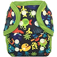 Image: Bummis Swimmi One Size Swim Diaper | unique laminated lycra fabric | one-size swim diaper fits children from 14 to 40 pounds | Snap closures for easy and quick removal