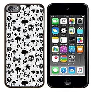 "Be-Star Único Patrón Plástico Duro Fundas Cover Cubre Hard Case Cover Para iPod Touch 6 ( Wallpaper trueno Relámpago Skulls Estrella"" )"