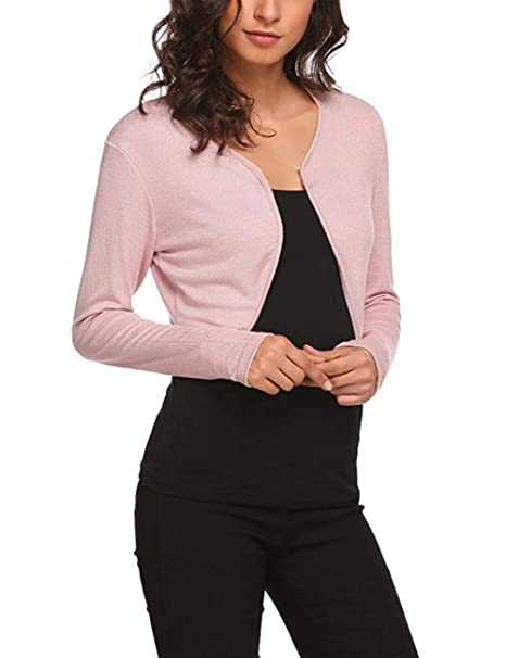 840294007b7f DACHUI Women s Bolero Long Sleeve Bolero Shrug Knit Cropped Cardigan  Sweater Jacket Shrug Top at Amazon Women s Clothing store