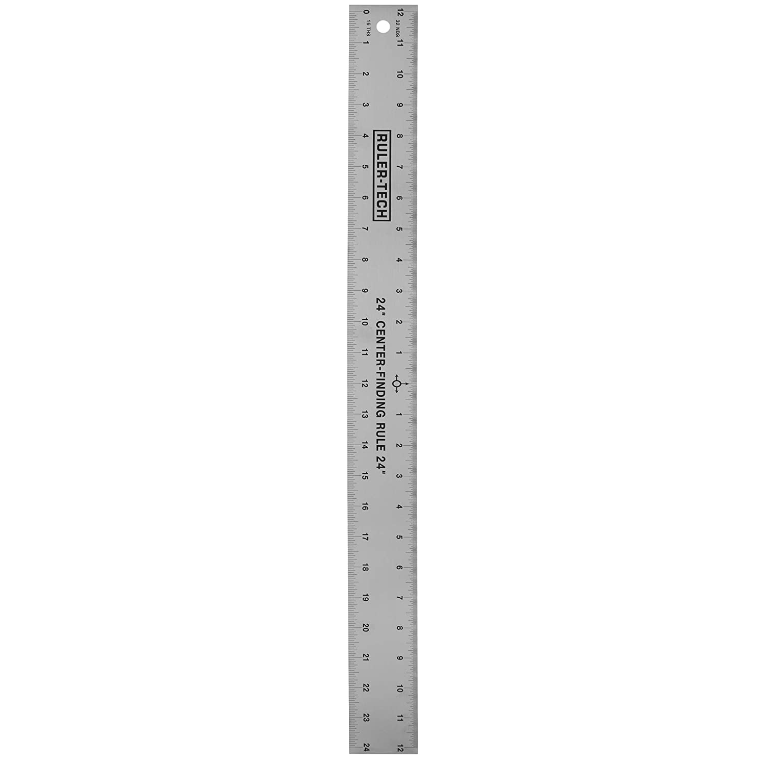 Stainless Steel Center Finding Ruler. Ideal for Woodworking Metal Work Construction and Around The Home 24 Ruler