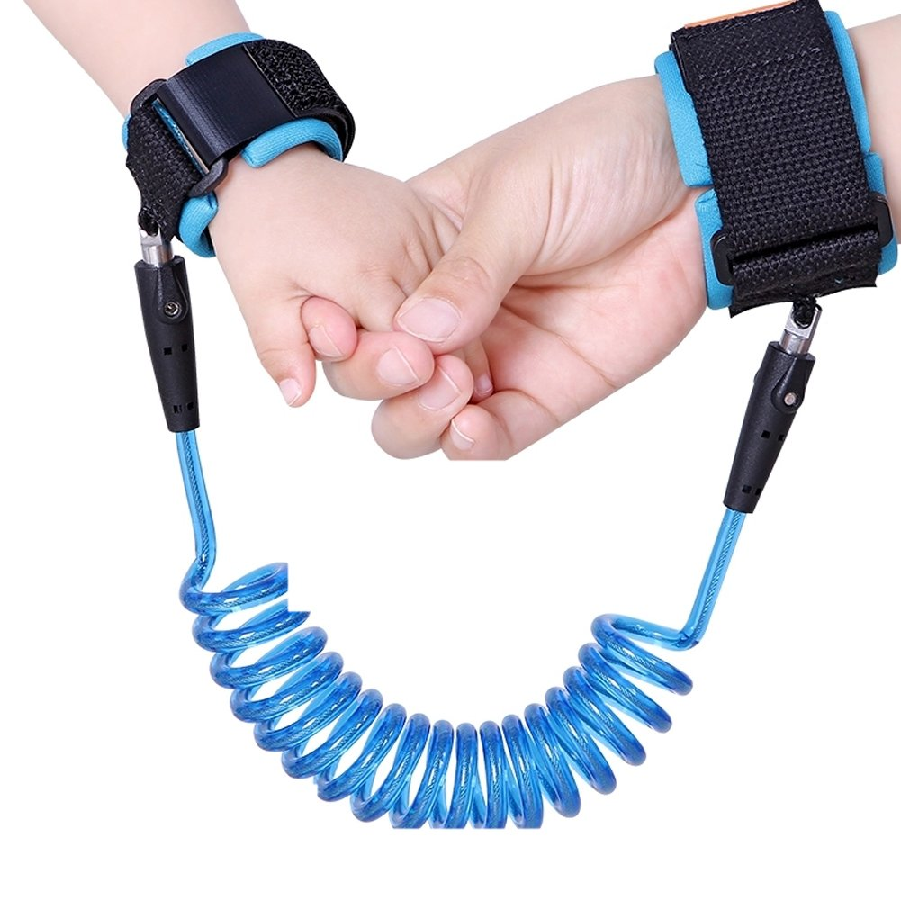 Toddler Wrist Leash, 2 Pack Anti Lost Wrist Link Child Safety Harness Wrist Band Straps Gift for Kids Outdoor Activities 2.5M Orange + 1.5M Blue GiftedMary