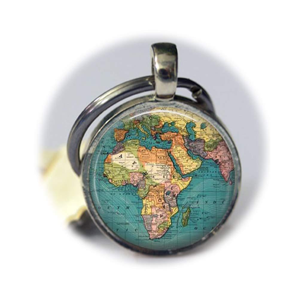 Mundo Viajes Globo Llavero Mapa de África clave cadena ...
