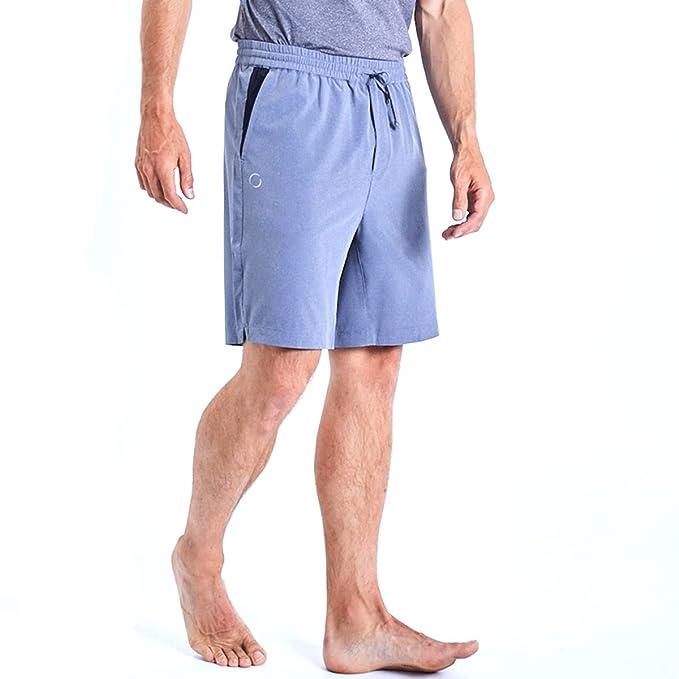 effe77045d OHMME Mens Eco Warrior II Training Shorts - Slate Grey - L: Amazon ...