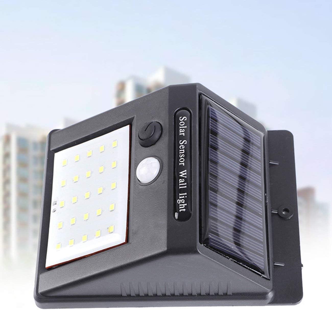 noir JIUY Imperm/éable /à leau 25 LED solaire PIR d/étecteur de mouvement de jardin Applique murale dext/érieur Accueil Lumi/ère