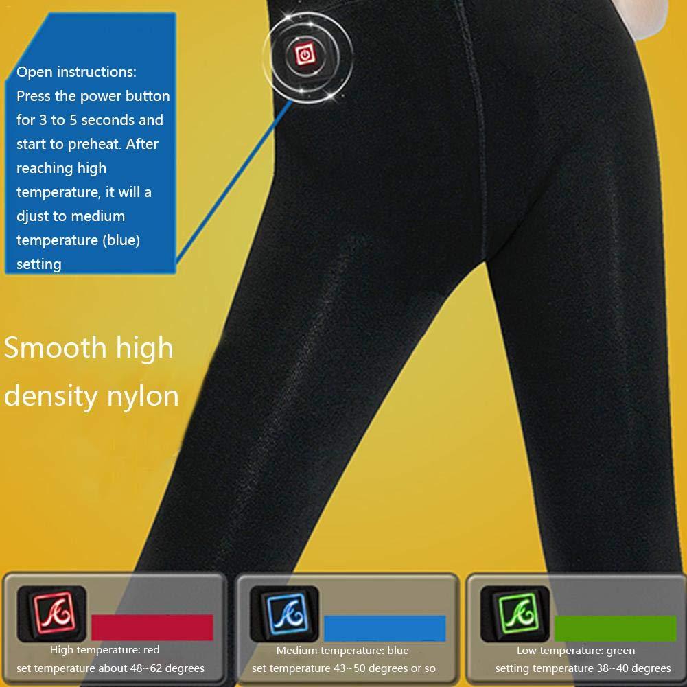 SUPERLOVE Pantalones Inferiores De Carga USB,Espesamiento De Vis/ón Calentamiento Pies Medias Calentamiento Inteligente Pantalones De Polainas para El Fr/ío Invierno