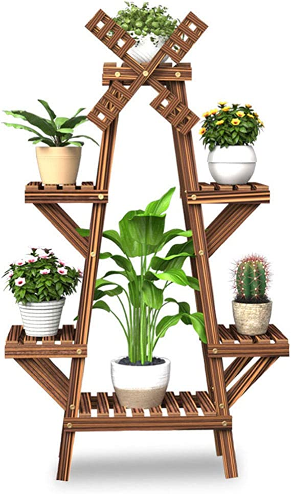 Q&Z Soporte para Plantas, Estanteria para Macetas Flores, Molino ...