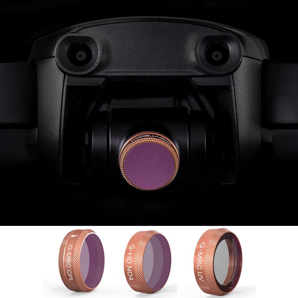 Drone Filter PGY Advanced Edition Filter Kit UV CPL ND4/8/16/32 Lens Filter for DJI Mavic AIR by Tronet RC Drone (Image #6)