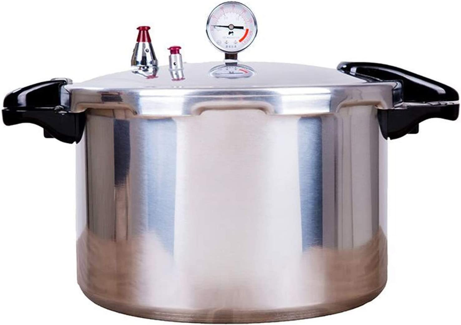 15-22 Quart Canned Food Pressure Cooker, Commercial Aluminum Gas Stove Open Flame Cookare Steam Stew Soup Pot, Hotel Restaurant Chef Multifunctional High Pressure Pot (15L)