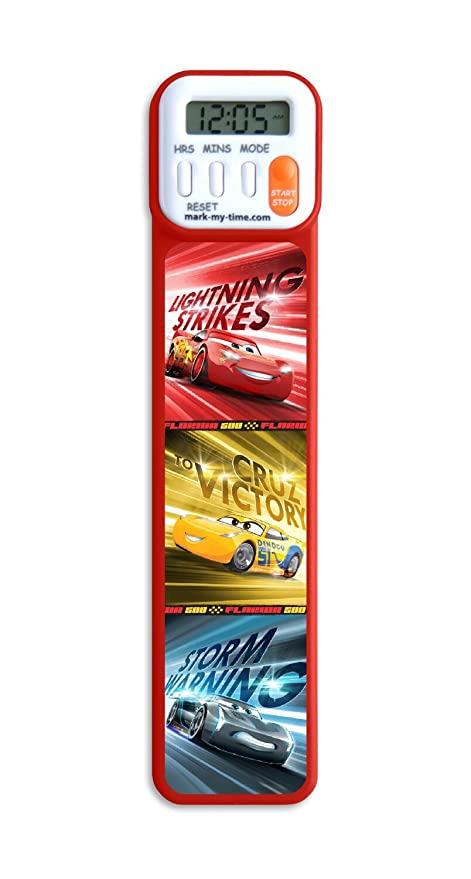 Mark My Time 3d Disney Pixar Cars Digital Bookmark And Reading Timer