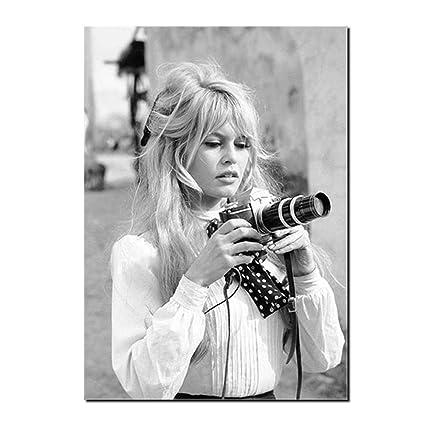 Amazoncom Brigitte Bardot French Fashion Poster Canvas Art